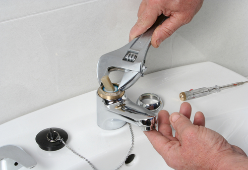 Address your leaky faucet as soon as you can.