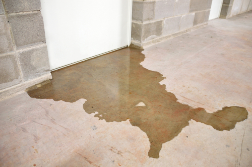 Call an emergency plumbing professional if there's a risk of flooding in your property.